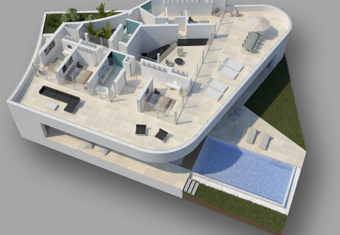 Villa em Lagos - Vivenda | Internet de Alta Velocidade | Piscina Aquecida Privada | Ginásio | Serviço Concierge | Perto da Praia, Restaurantes, SPA, Driving Range [LUX MARE I]